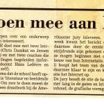 1997 De Stem, aankondiging deelnameTQ