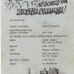 Programma afscheidsrevue Zuster Borromea