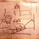 Schets uitzicht tekenlokaal Gerard de Zeeuw