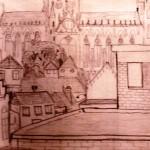 Uitzicht tekenlokaal Gerard de Zeeuw