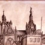 Uitzicht tekenlokaal MarjolijnVermeulen