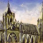 Uitzicht tekenlokaal geschilderd Michel Mudde