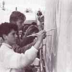 8 Michel Kieneker als tunnelschilder in 1986