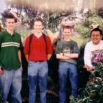 Het team in pretpark Universal studios 1