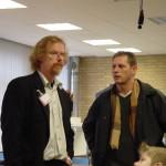 Open dag 2002 met oudleerling John Bartels