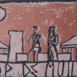 4 Hector en Penelope op de muren van Troje