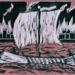 9 De Grieken verlaten brandend Troje