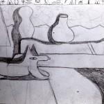 Compositieschets Egyptisch koningsgraf