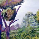 tempel in het oerwoud