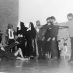Tableau de la troupe na afloop van het toneelstukje