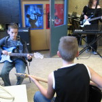 Inspelen in een van de muzieklokalen