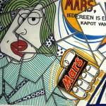 Advertentie ontwerp voor Mars door Jan Willem Kinkel