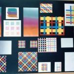 Kamiekes studies voor haar abstracte patronen