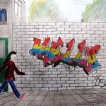 graffiti derde klas 4