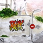 graffiti derde klas 1