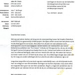 Bedankbrief van de Raad van Bestuur van het Amphia