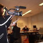 Opnames maken op de redactie