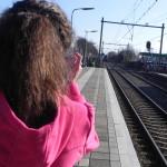 Daar komt de trein uit Breda!