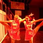 Cheerleaders op hoog niveau