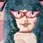 Portret met spiegelende bril, meesteres