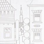 Winkelstraat lijntekening