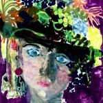 Dame met hoed brugklas
