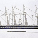 Zeilschip met stoommachine