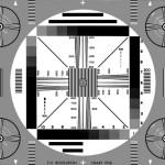 Testbeeld uit de zwart/wit tv tijd