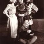 Scène met Maria, de hertogin, jonker Andries en Feste, de nar