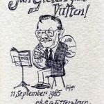 1985 Afscheid collega duits Jan Gielen
