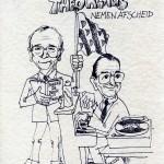 1986 Afscheid collega's Bouke v.d.Meer (levo) en Theo Klaus (muziek)