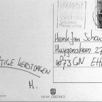 Voorbeeld van een afgestempelde postzegel
