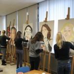 VWO6 leerlingen bezig aan deze opdracht