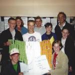 Chantal en Helen met andere deelnemers