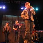 De band in actie