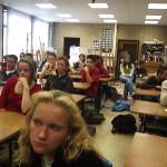 De hele klas vol aandacht