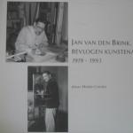 Eerste blad boek 'Jan van den Brink, bevlogen kunstenaar'