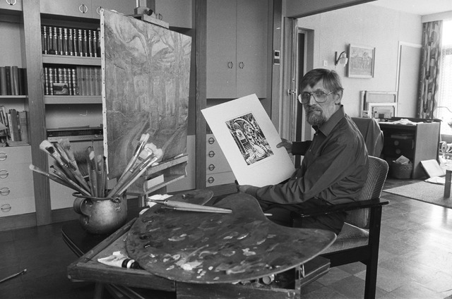 1986 Jan in zijn atelier
