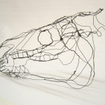 Wire horse skull 03