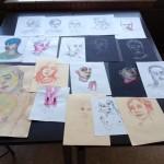Modelstudies in de trant van Egon Schiele