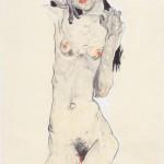 Egon Schiele: Schwarzhaariger Mädchenakt 1910