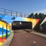Oostelijk tunnelfront af