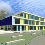 En dit wordt het nieuwe gebouw....
