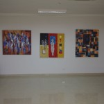 Een indruk van de daar getoonde kunstwerken