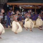 Ghanese dansers in actie
