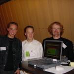 Utrecht TQ 2001, v.l.n.r. GertJan,Timon, ik zei de gek en de vader van Timon
