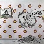 Ontwerptekening van Lode voor het tunnelproject 'Sorry buurman'