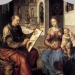 Maerten van Heemskerck: Sint Lucas schildert de Maagd Maria en het kindje Jezus