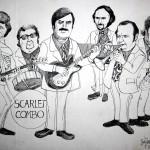 Portret van de mannen van het Scarlet Combo