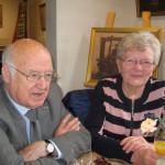 Jos met zijn vrouw Toke bij het napraten